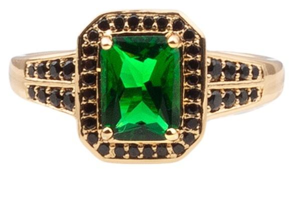 Ring chérie rectangle green black-1
