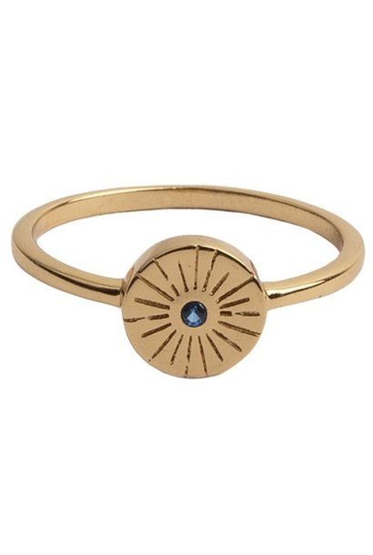Ring Magique Ring Coin Burst Blue
