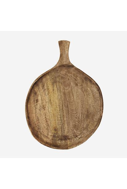 Serveerplank  wooden w/ handle 36x50cm dark natural