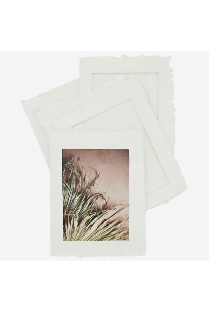 Fotolijst Paper Pulp  6 stuks 13x18cm off white