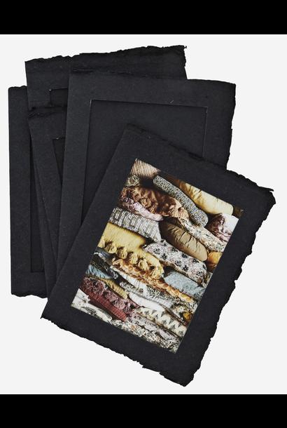 Fotolijst Paper Pulp 6 stuks 13x18cm black