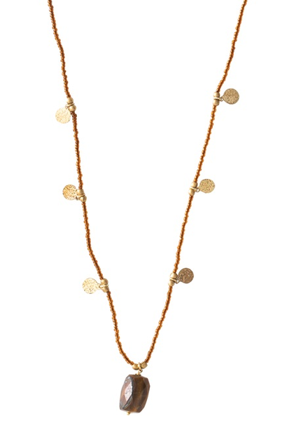 Ketting Charming Tiger Eye Gold Necklace