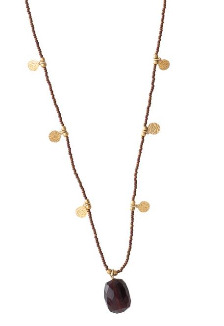 Ketting Charming Garnet Gold Necklace-1