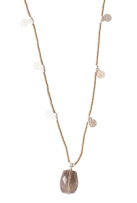 Ketting Charming Smokey Quartz Silver Necklace-1