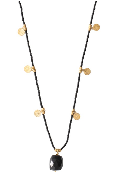 Ketting Charming Black Onyx Gold Necklace