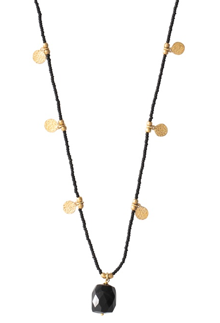 Ketting Charming Black Onyx Gold Necklace-1