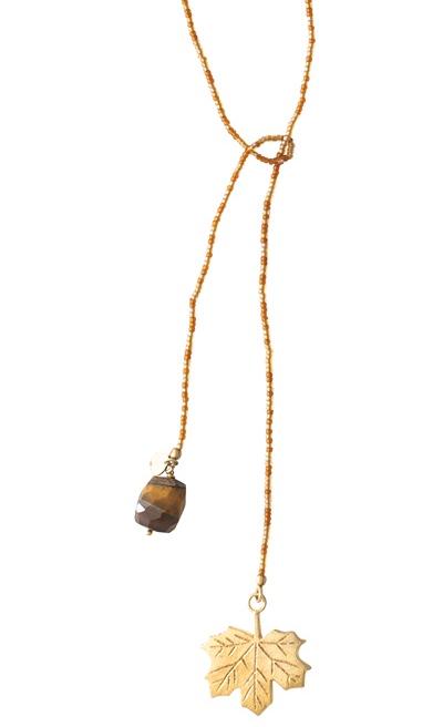 Ketting Nova Tiger Eye Gold Necklace-1