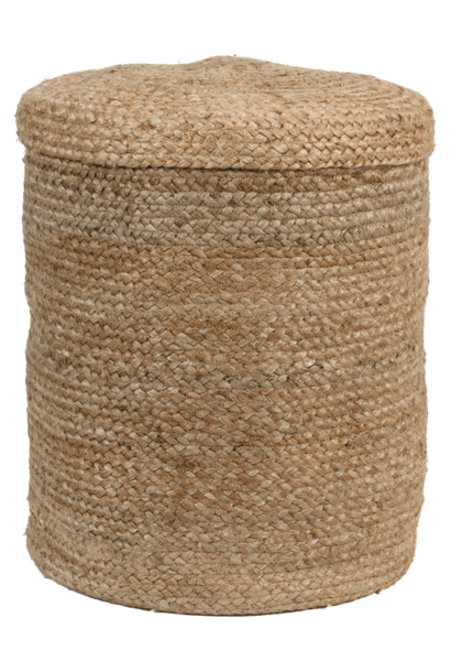 Mand  Storage basket met lid naturel  Ø40 x 50 CM