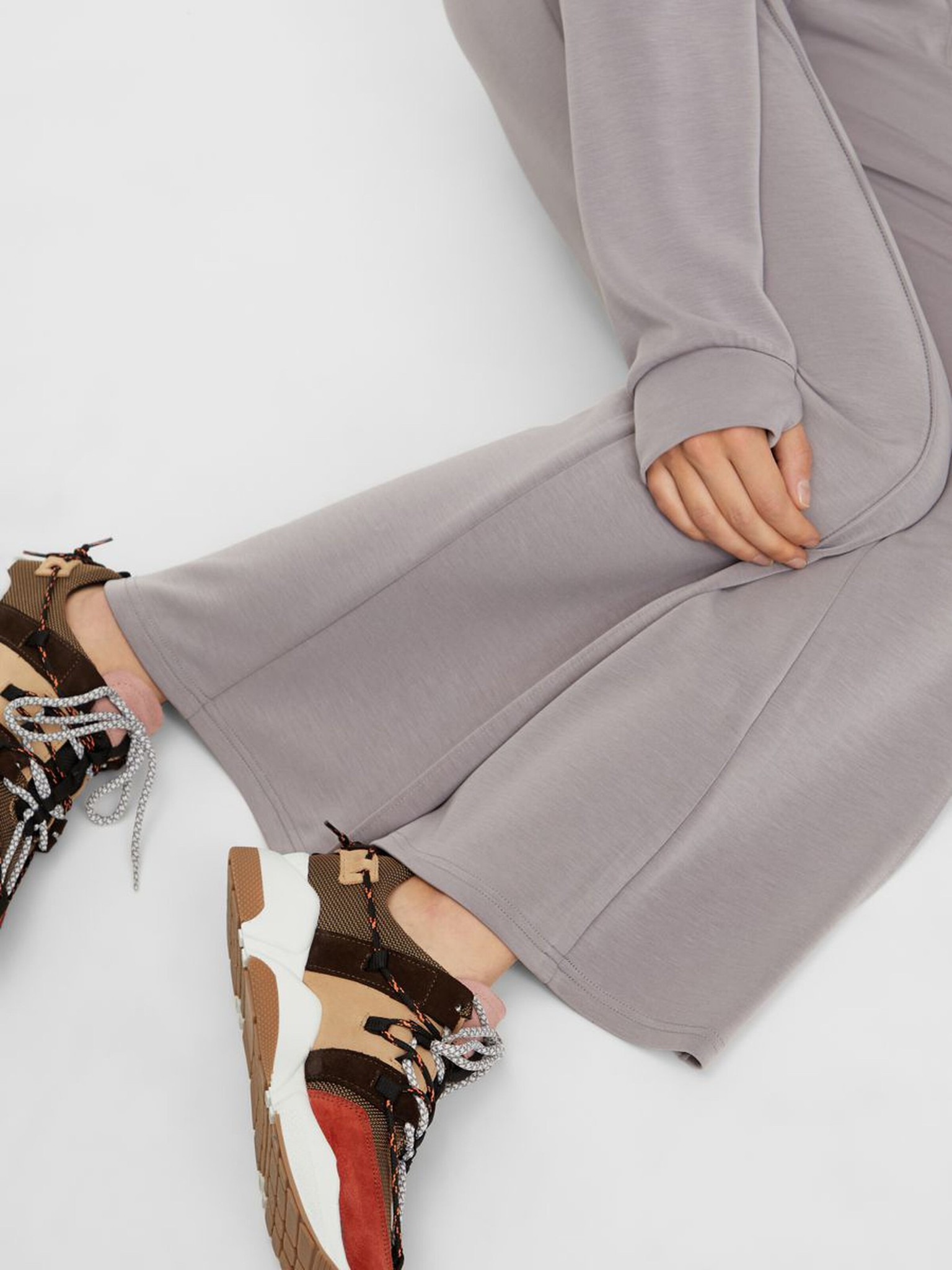 Broek Yascomo sweatpants medium grey melange-5