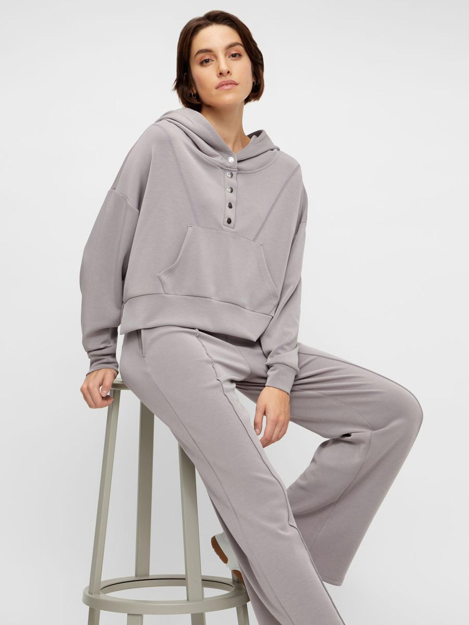 Broek Yascomo sweatpants medium grey melange-6