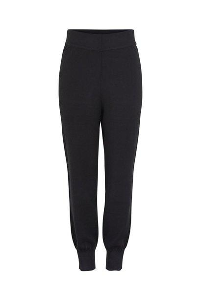 Broek Yasfonny knit pants black