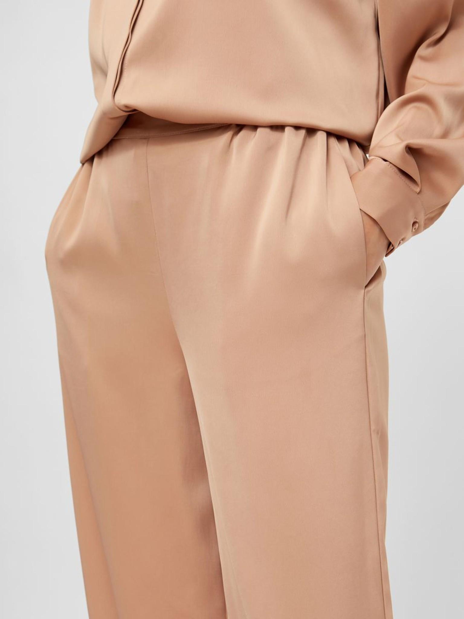 Broek Yasteresa cropped pants tawny brown-4