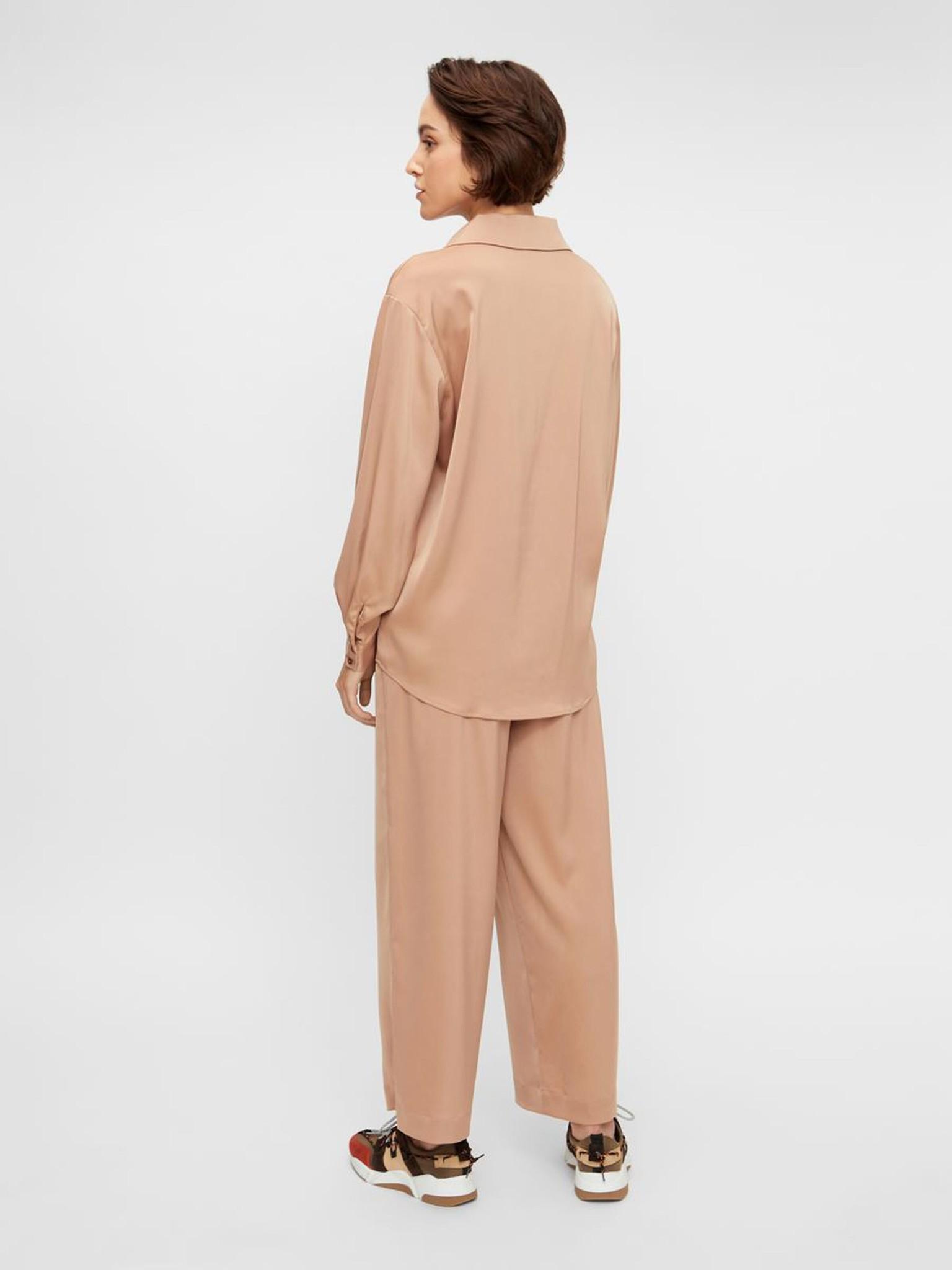 Broek Yasteresa cropped pants tawny brown-6