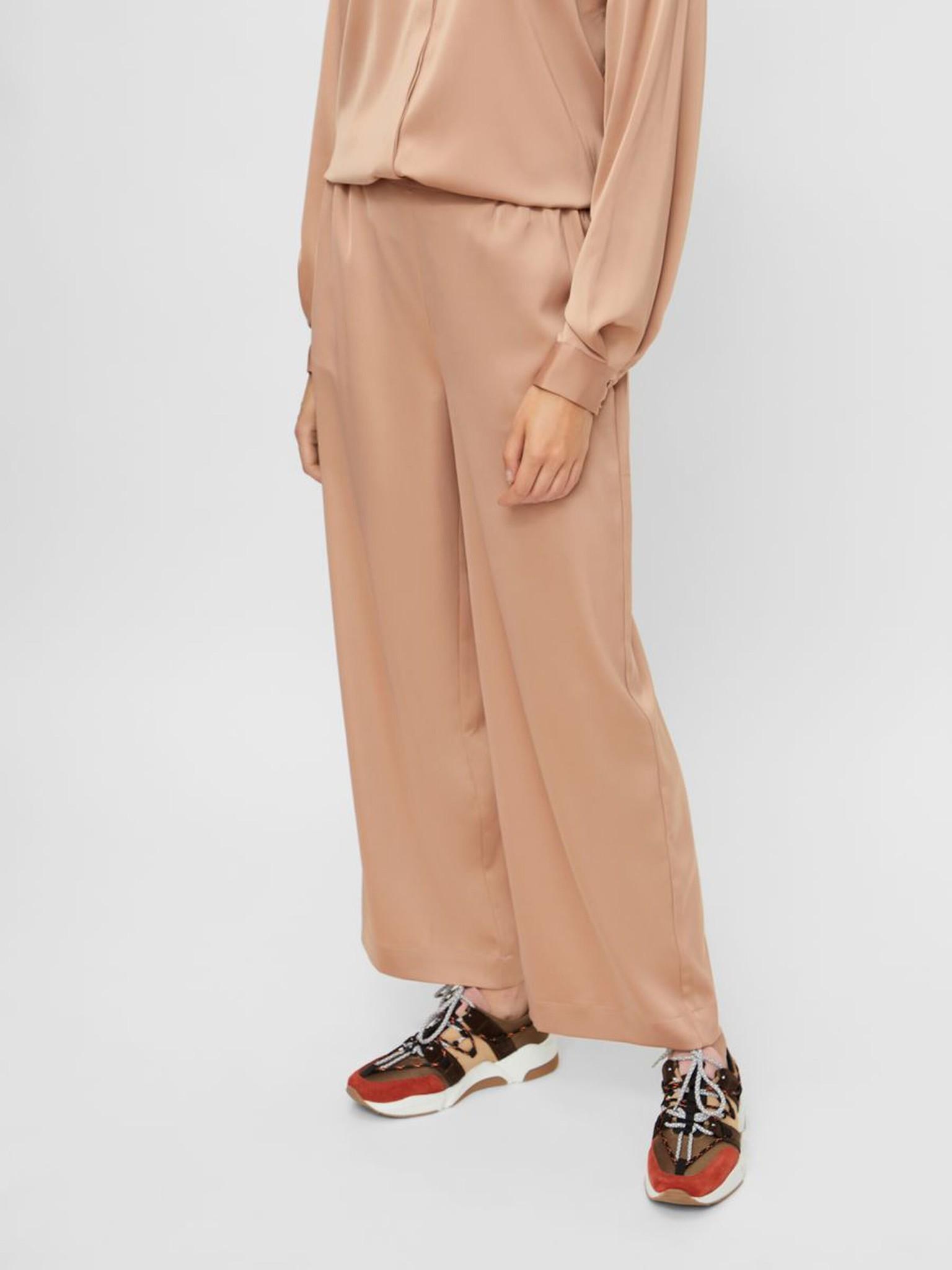 Broek Yasteresa cropped pants tawny brown-2