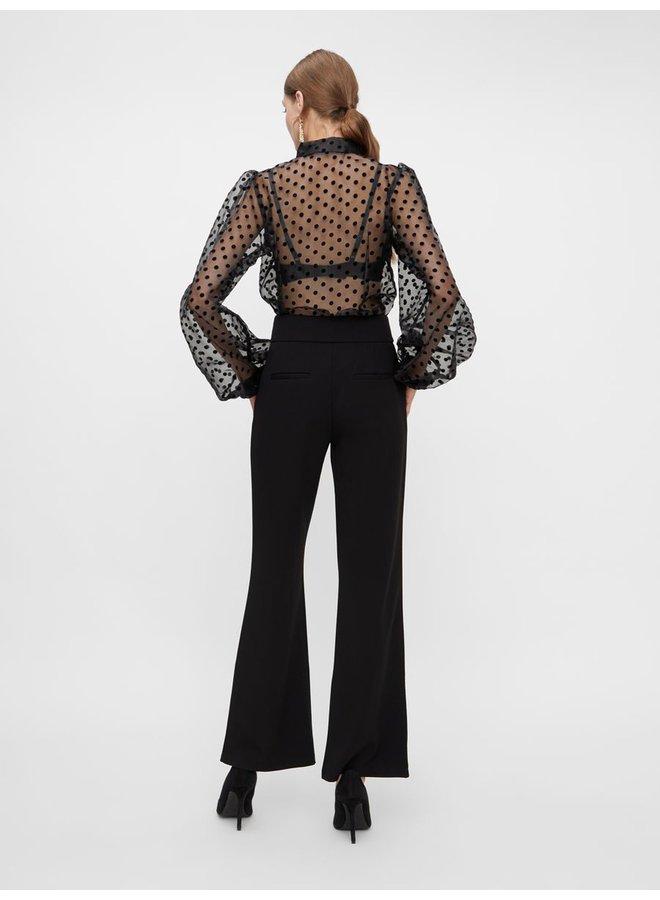 Broek Yasvictoria zip wide pants black