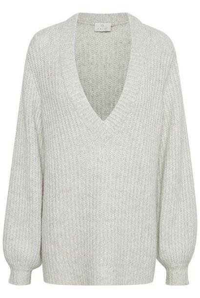 Trui KAbitten Knit Pullover light grey melange