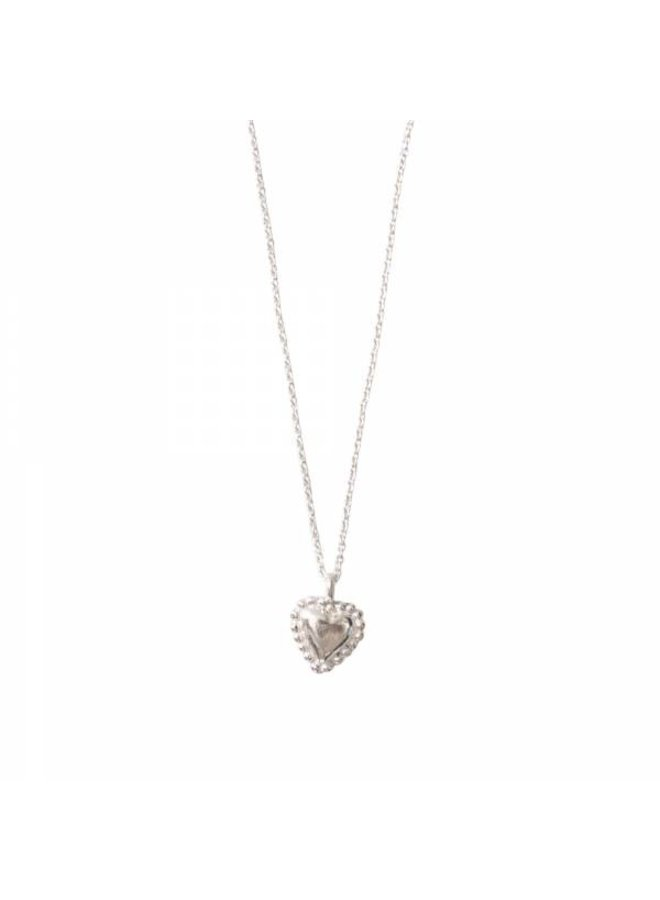 Ketting Delicate Heart Silver Necklace