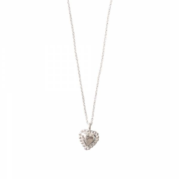 Ketting Delicate Heart Silver Necklace-1