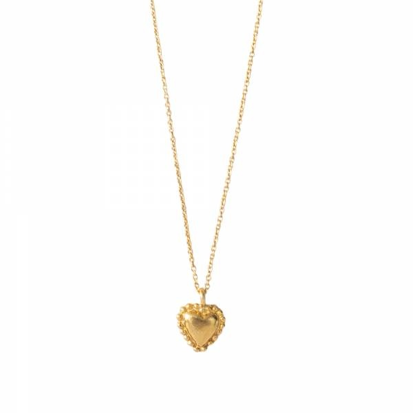 Ketting Delicate Heart Gold Necklace-1