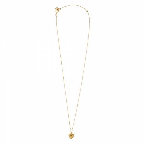 Ketting Delicate Heart Gold Necklace-3