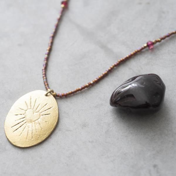 Ketting Swing Garnet Gold Necklace-2