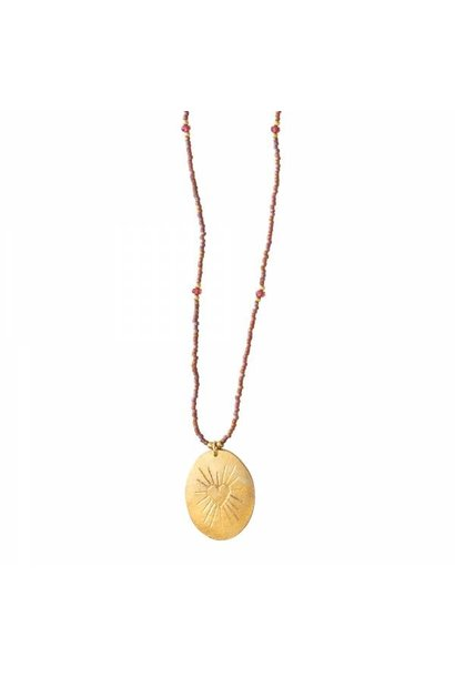 Ketting Swing Garnet Gold Necklace