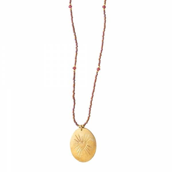 Ketting Swing Garnet Gold Necklace-1