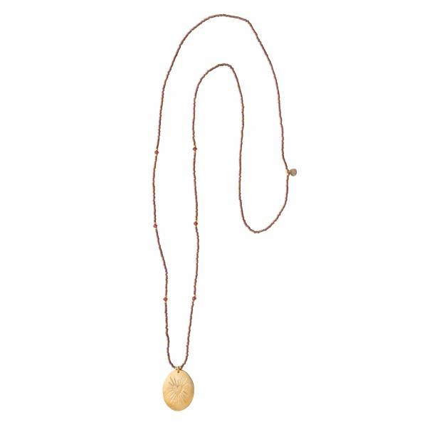 Ketting Swing Garnet Gold Necklace-3