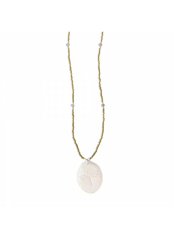 Ketting Swing Labradorite Silver Necklace