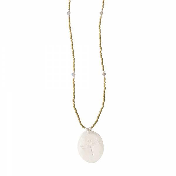 Ketting Swing Labradorite Silver Necklace-1