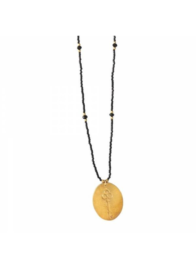 Ketting Swing Black Onyx Gold Necklace