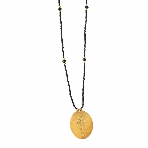 Ketting Swing Black Onyx Gold Necklace-1
