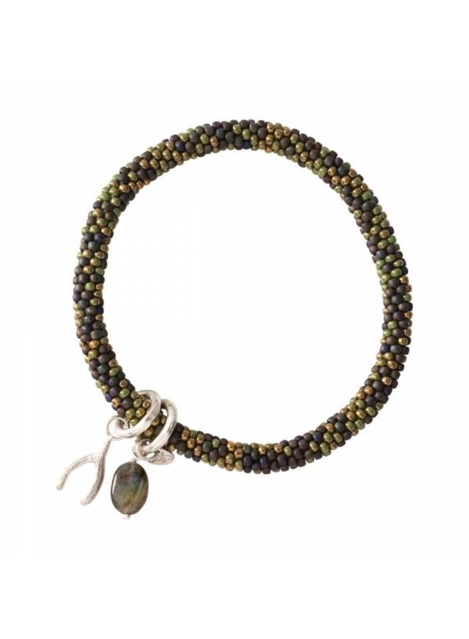 Armband Jacky Multi Color Labradorite Silver Bracelet