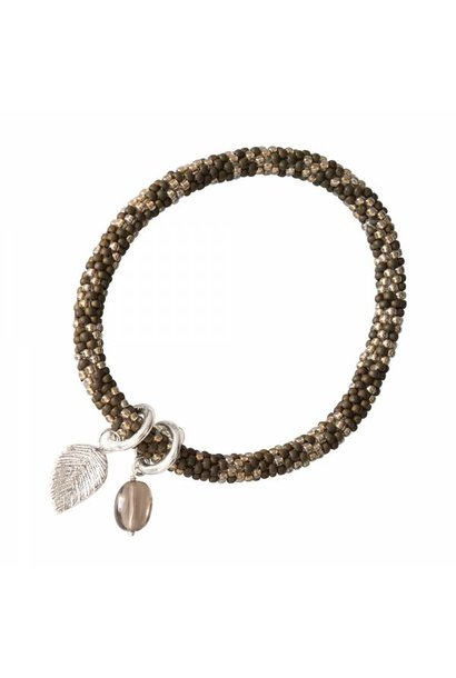 Armband Jacky Multi Color Smokey Quartz Silver Bracelet
