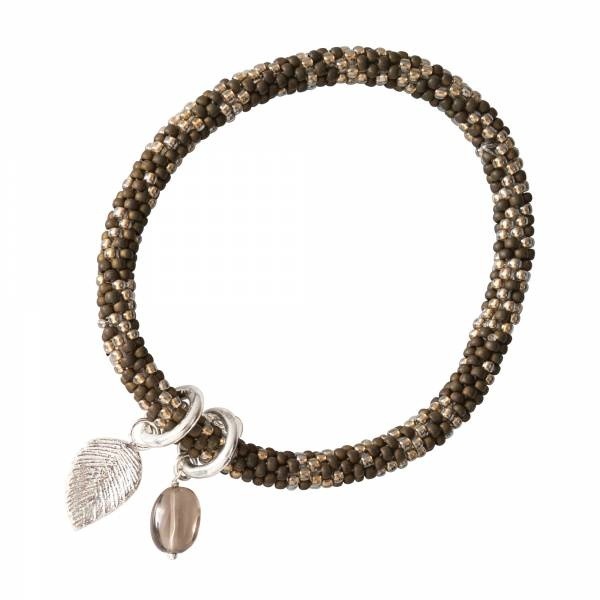 Armband Jacky Multi Color Smokey Quartz Silver Bracelet-1
