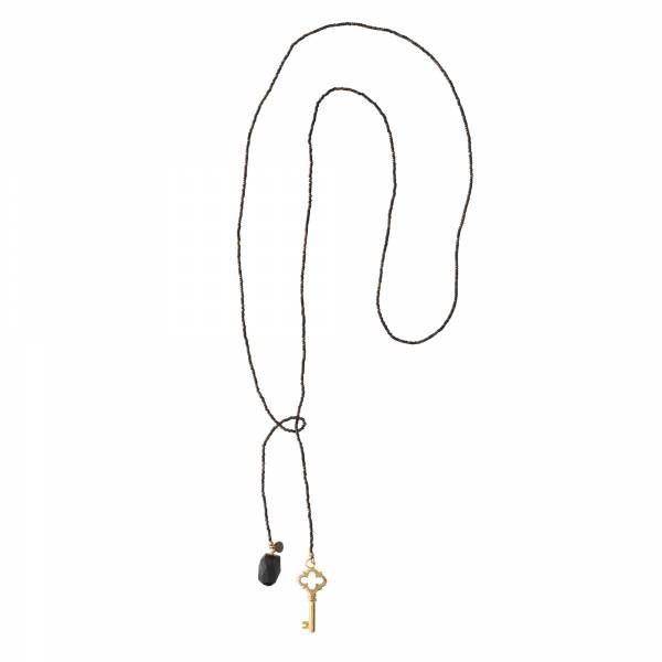 Ketting Nova Black Onyx Gold Necklace-3
