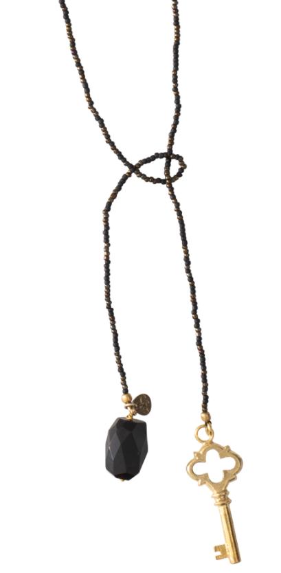 Ketting Nova Black Onyx Gold Necklace-1