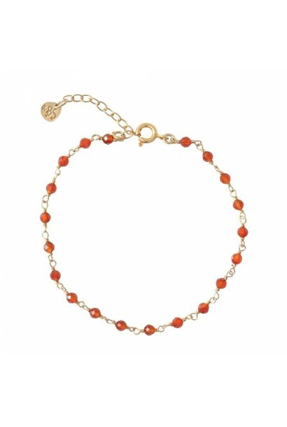 Armband Harmony Carnelian Sterling Silver GoldPlated Bracelet