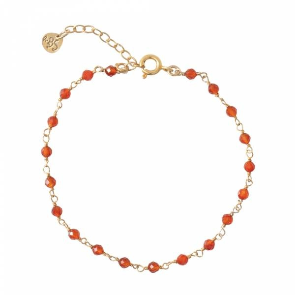 Armband Harmony Carnelian Sterling Silver GoldPlated Bracelet-1
