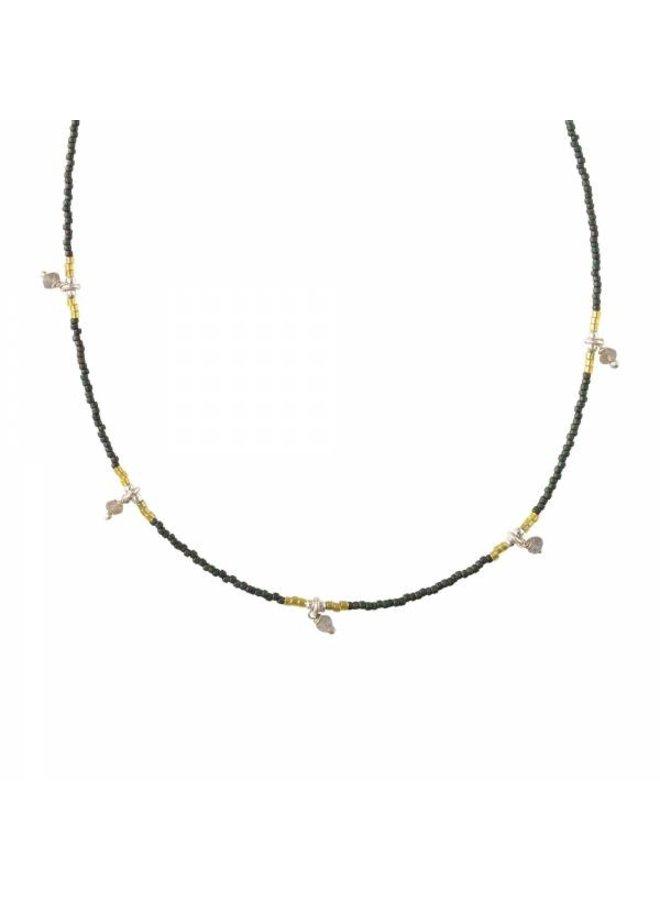 Ketting Cocoon Labradorite Silver Necklace