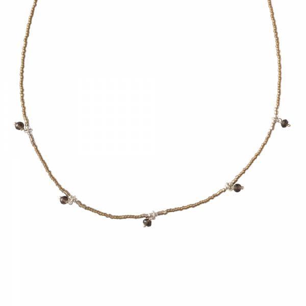 Ketting Cocoon Smokey Quartz Silver Necklace-1