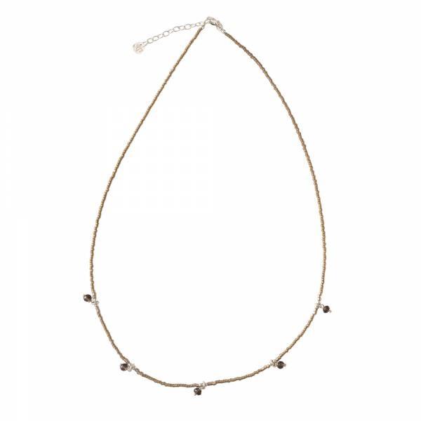 Ketting Cocoon Smokey Quartz Silver Necklace-3