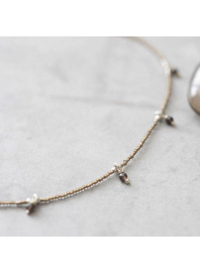 Ketting Cocoon Smokey Quartz Silver Necklace
