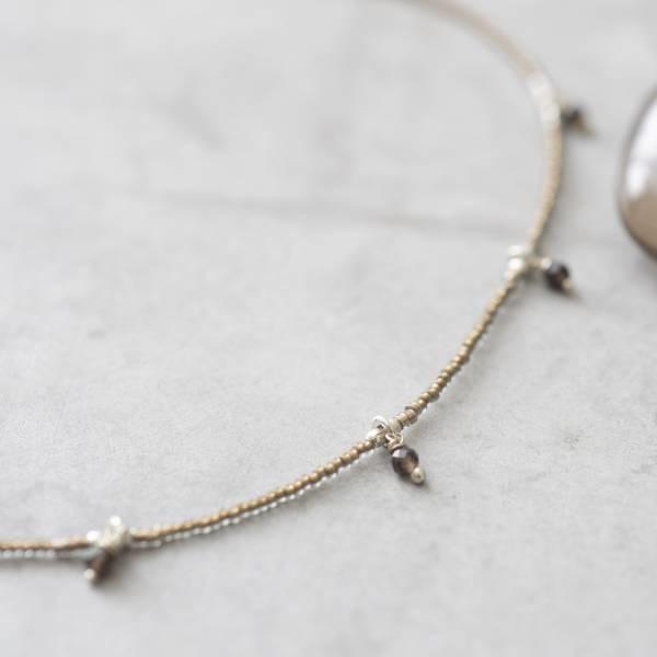 Ketting Cocoon Smokey Quartz Silver Necklace-2