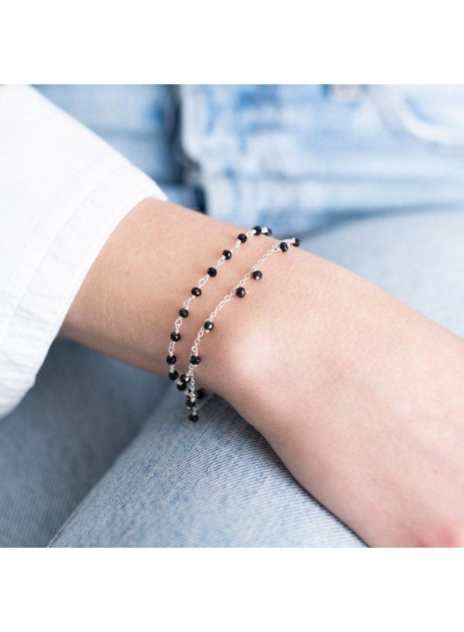 Armband Harmony Black Onyx Sterling Silver GoldPlated Bracelet