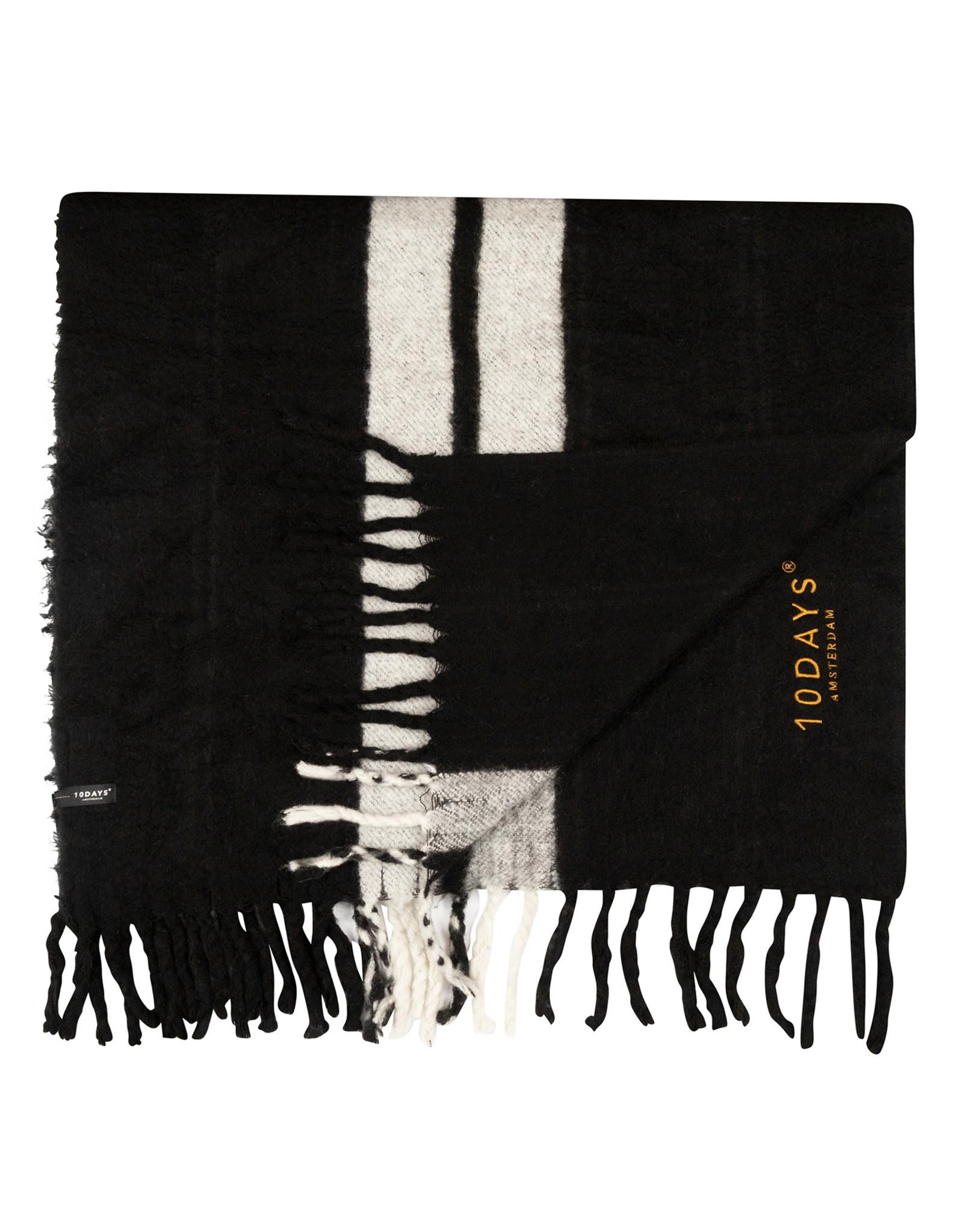 Sjaal scarf two stripe black-2