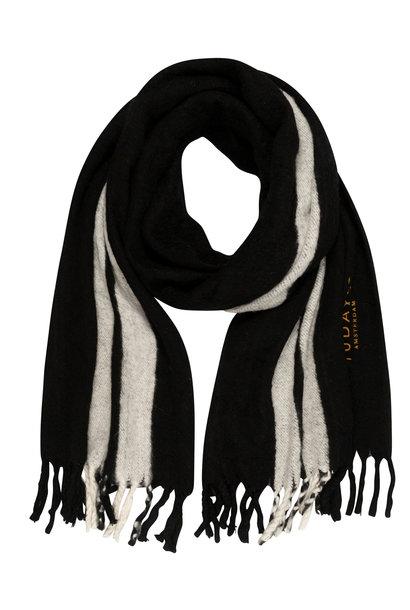 Sjaal scarf two stripe black