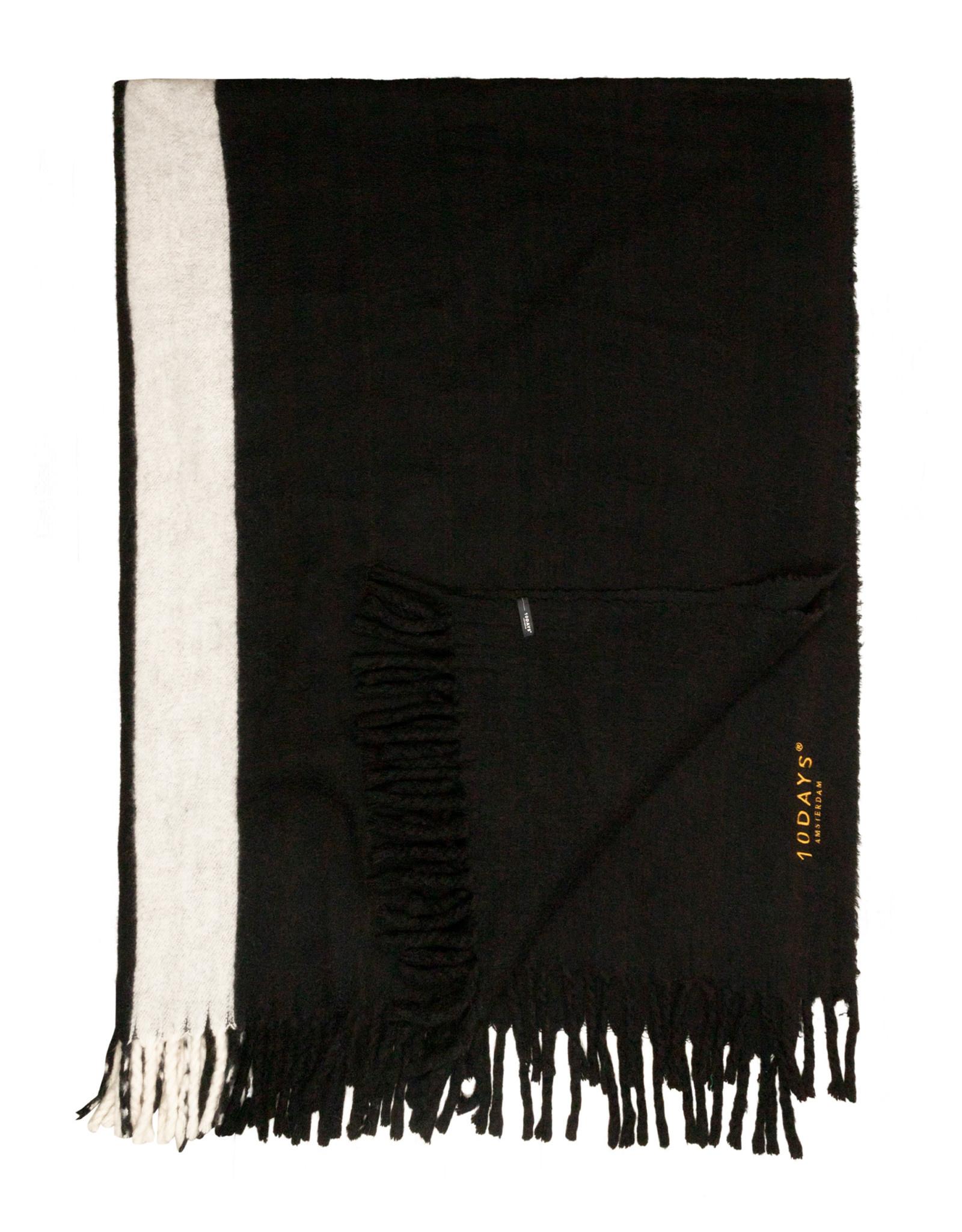 Sjaal scarf two stripe black-3
