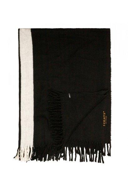 Woondeken bed plaid two stripe black