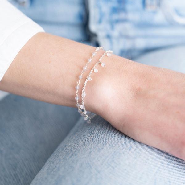 Armband Harmony Rose Quartz Sterling Silver Bracelet-2